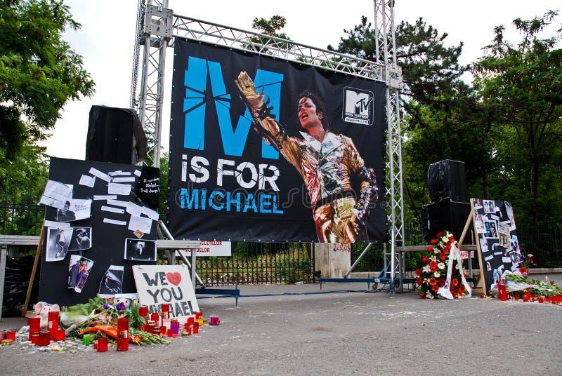 Michael Jackson Gedenkteken stock afbeeldingen