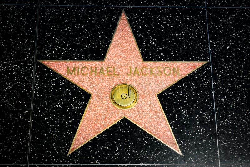 Michael Jackson gwiazda na Hollywood spacerze sława zdjęcia royalty free