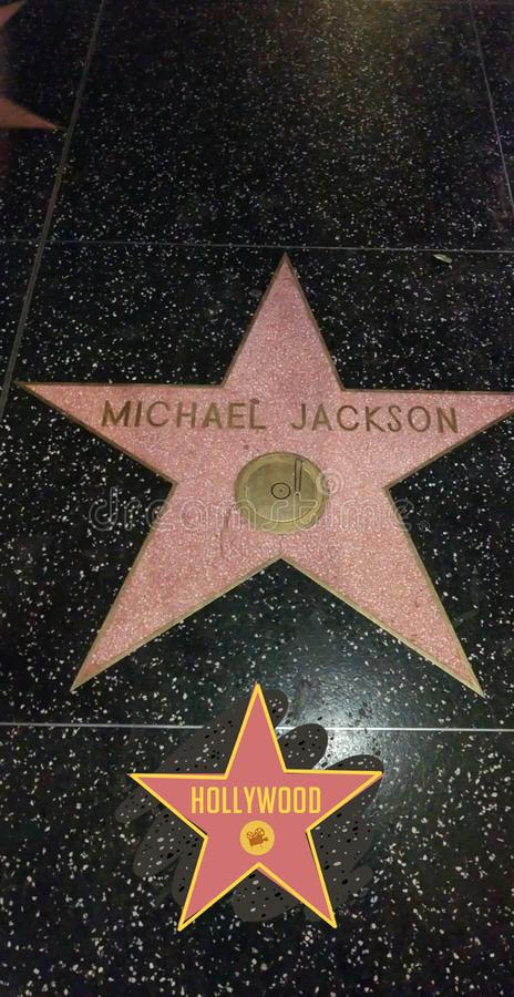 Michael Jackson Hollywood obraz royalty free