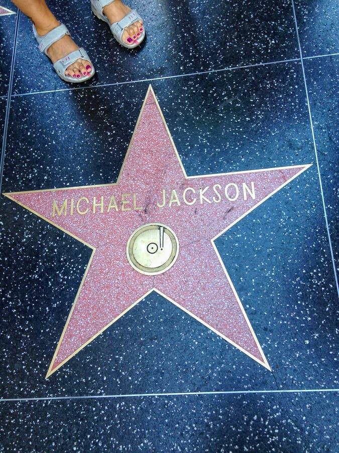 Michael Jackson Hollywood spacer sławy gwiazda zdjęcia royalty free