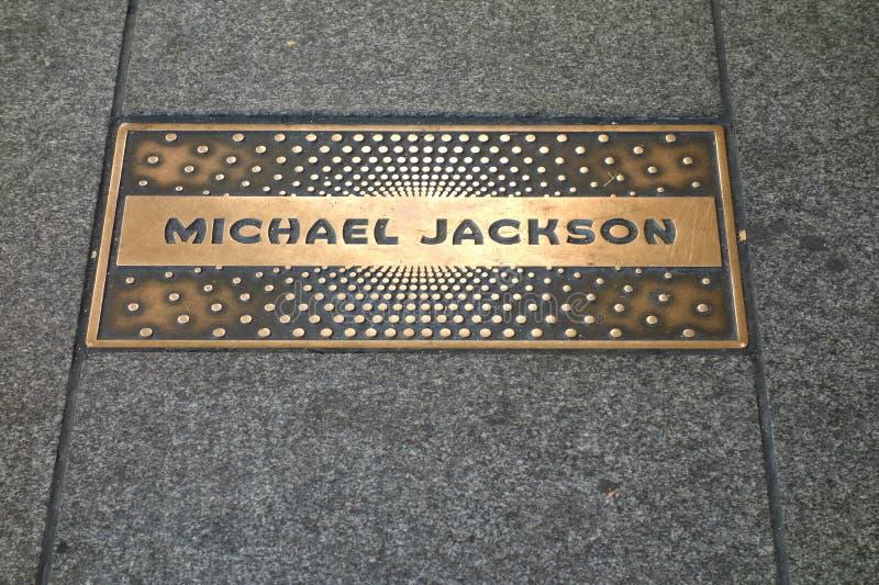 Michael Jackson plakieta zdjęcia royalty free