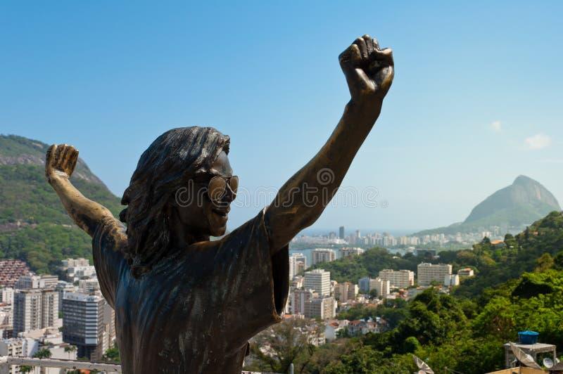 Michael Jackson pomnik w Rio De Janeiro fotografia royalty free
