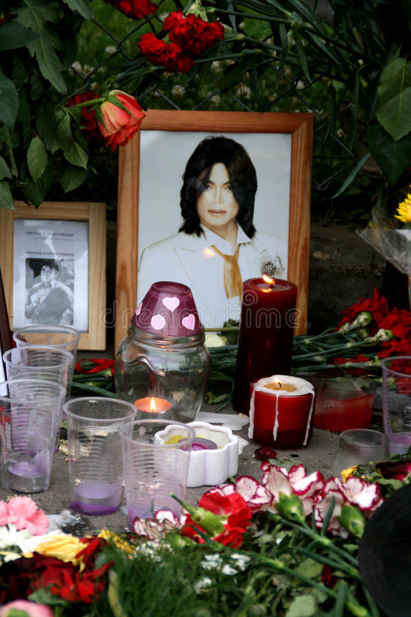Michael Jackson's death. Reaction of Moscow fans royalty free stock image