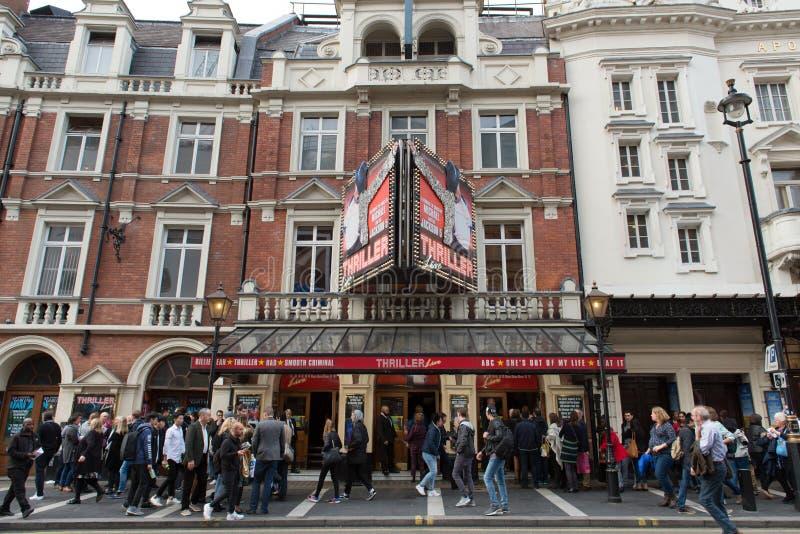 Michael Jackson ` s dreszczowiec Żywy przy Lirycznym teatrem, Londyn obrazy stock