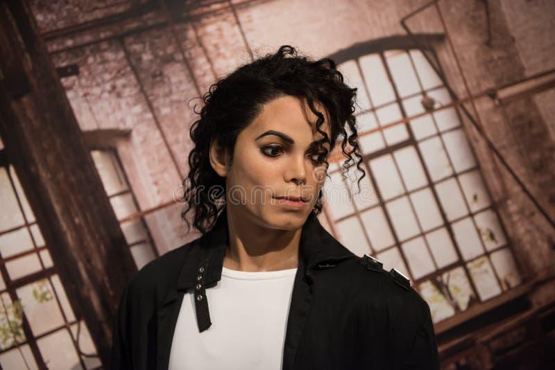 Michael Jackson, scultura della cera, signora Tussaud immagine stock libera da diritti