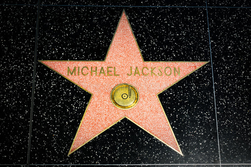 Michael Jackson Star auf dem Hollywood-Weg des Ruhmes lizenzfreie stockfotos