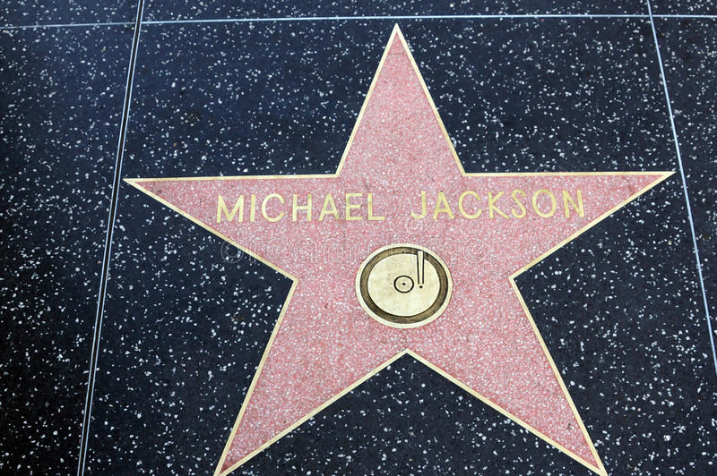 Michael Jackson Star auf Hollywood-Weg des Ruhmes stockfoto