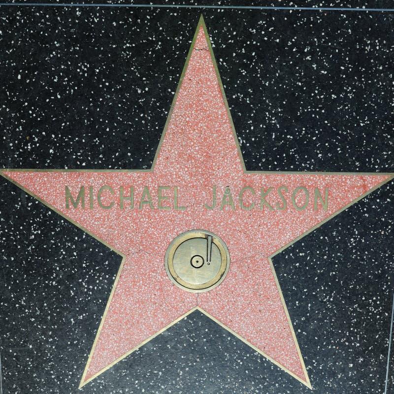 Michael Jackson Star auf Hollywood-Weg des Ruhmes in Hollywood, Kalifornien USA lizenzfreie stockfotos