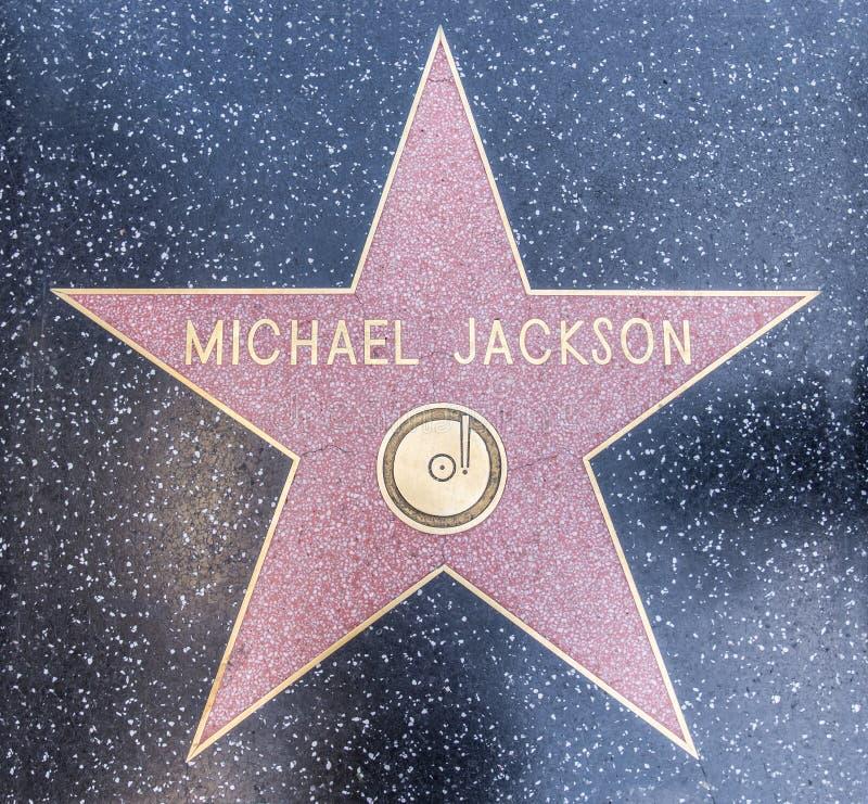 Michael Jackson Ster royalty-vrije stock afbeelding