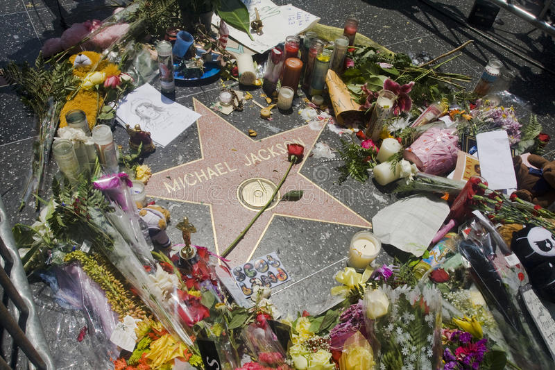 Michael Jackson Ster Redactionele Stock Afbeelding