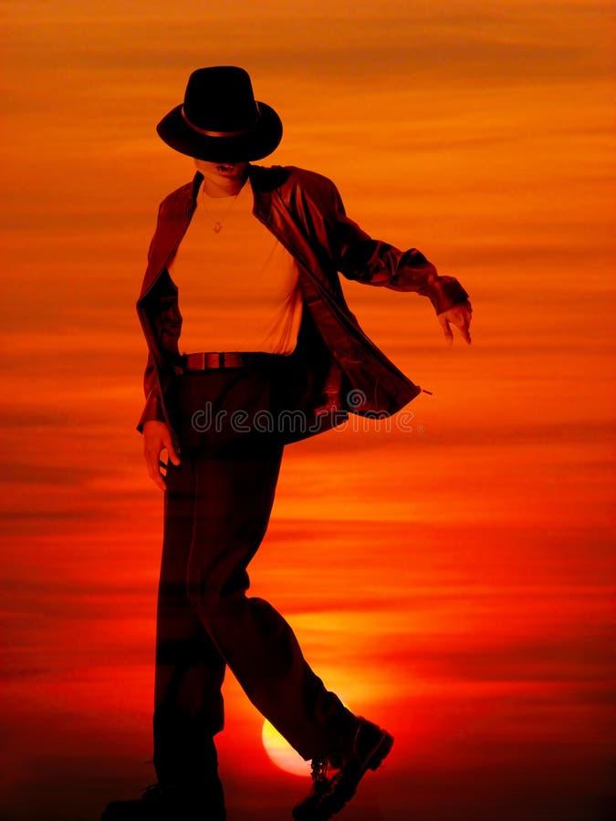 Michael Jackson Sunset Editorial Photo