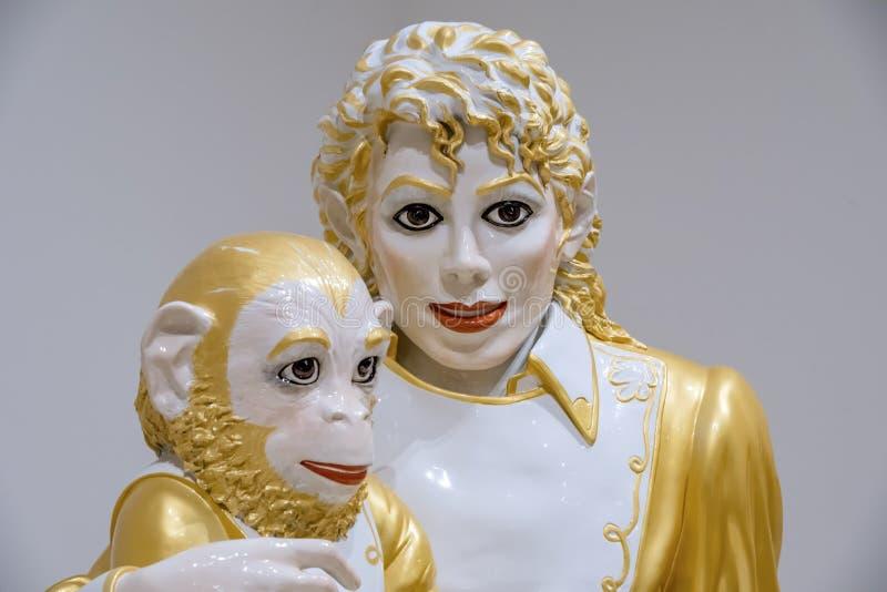 Michael Jackson van Jeff Koons stock foto
