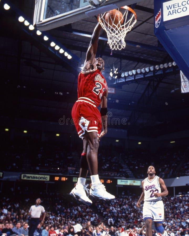 Michael Jordan ・芝加哥公牛队 库存照片