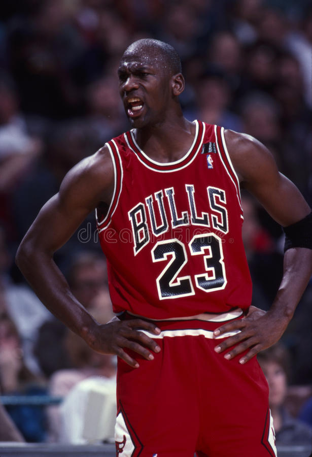 Michael Jordan Of The Chicago Bulls stock foto