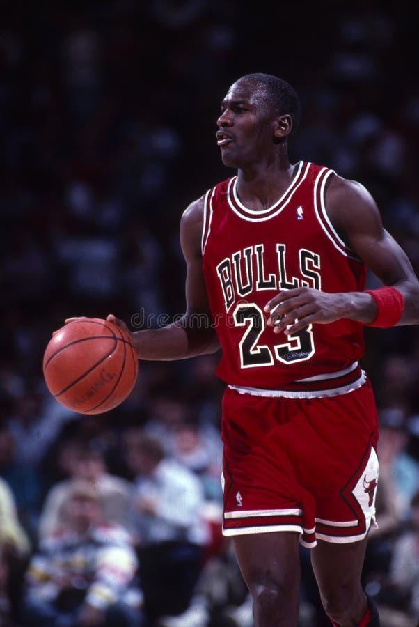 Michael Jordan Of The Chicago Bulls fotografie stock libere da diritti