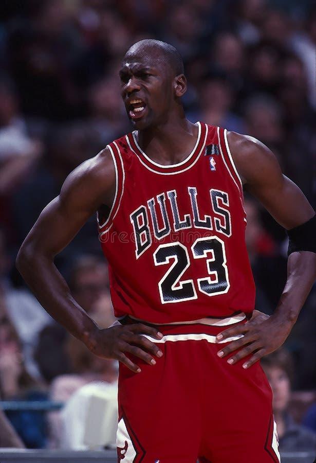 Michael Jordan Of The Chicago Bulls fotografie stock