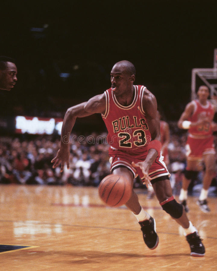 Michael Jordan. Chicago Bulls legend Michael Jordan, #23. (Image taken from color slide stock images