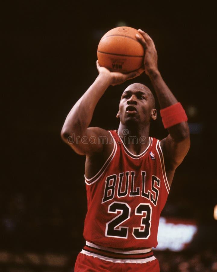 Michael Jordan. Chicago Bulls legend Michael Jordan taking a free throw. (Image taken from color slide