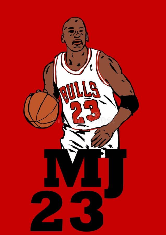 Michael Jordan. Image of famous basketball player Michael Jordan