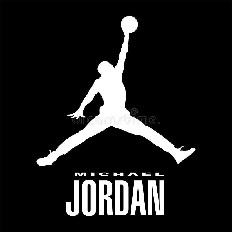Michael Jordan logosymbol vektor illustrationer