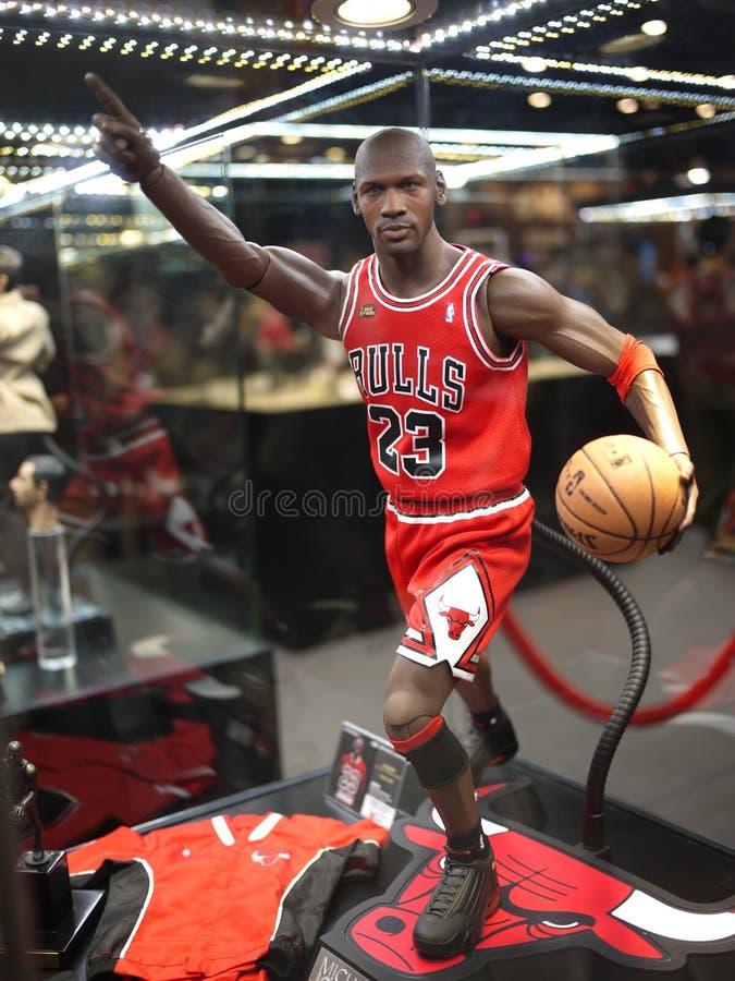 Michael Jordan nell'ANIMA 2014 del GIOCATTOLO fotografia stock