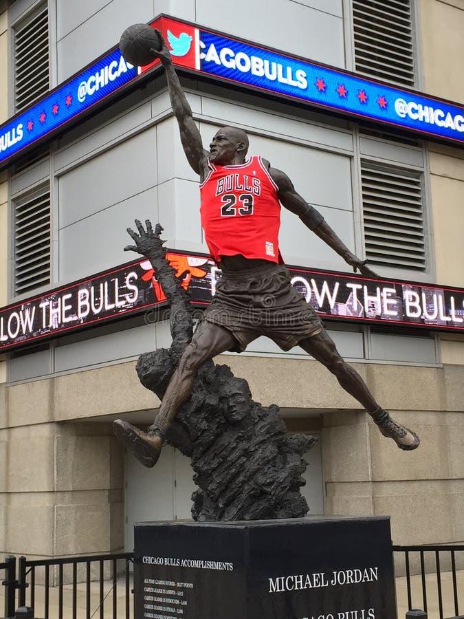 Michael Jordan Statue fotografia stock libera da diritti
