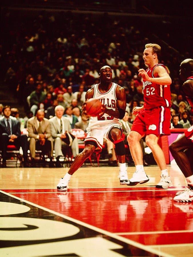 Michael Jordanië Chicago Stieren stock afbeelding