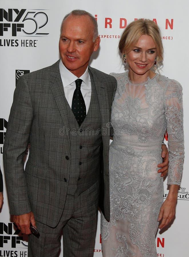 Michael Keaton, Naomi Watts foto de stock royalty free