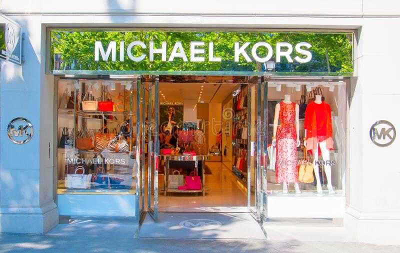 Michael Kors store in Barcelona, Spain royalty free stock photos