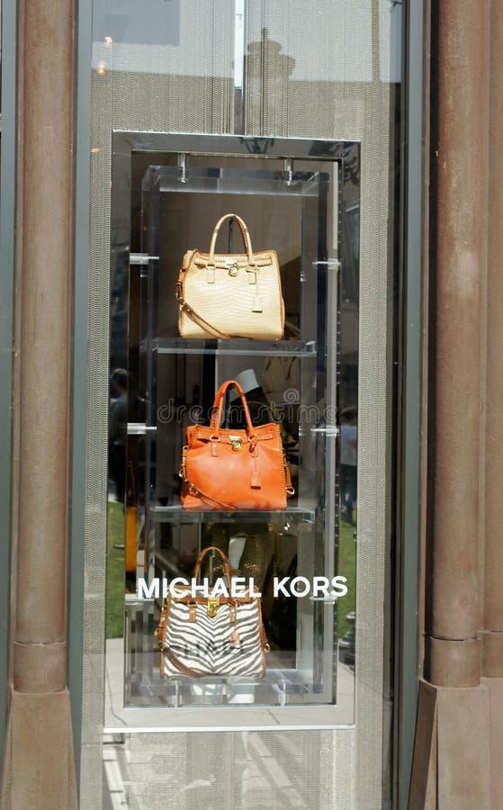 Michael Kors Window Display royalty free stock photos