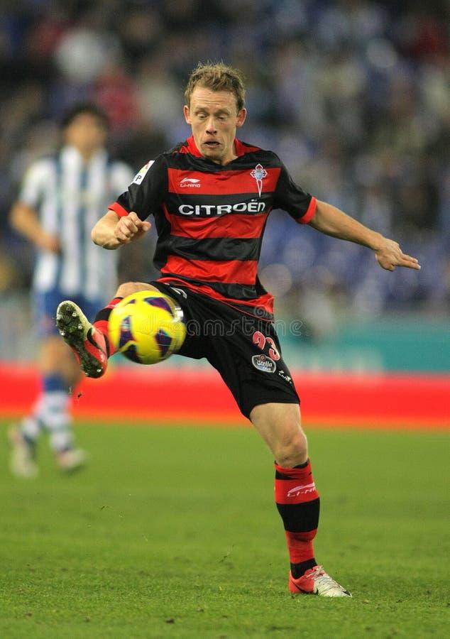 Michael Krohn-Dehli del Celta de Vigo SAD immagine stock