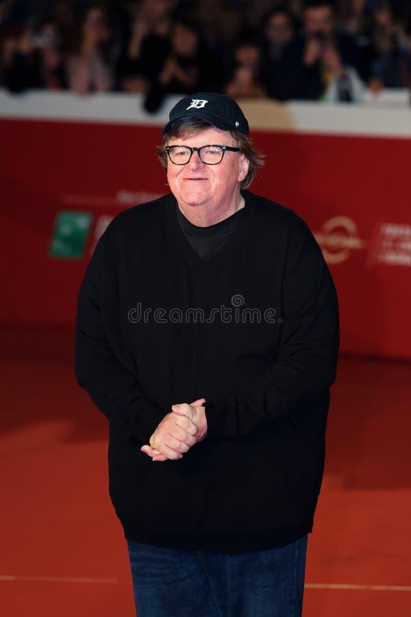 Michael Moore en la alfombra roja en el Fest 2018 de la película de Roma fotos de archivo