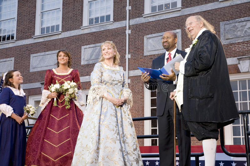 Download Michael Nutter Marrying Ben Franklin And Betsy Ross Editorial Stock Photo - Image: 27069288