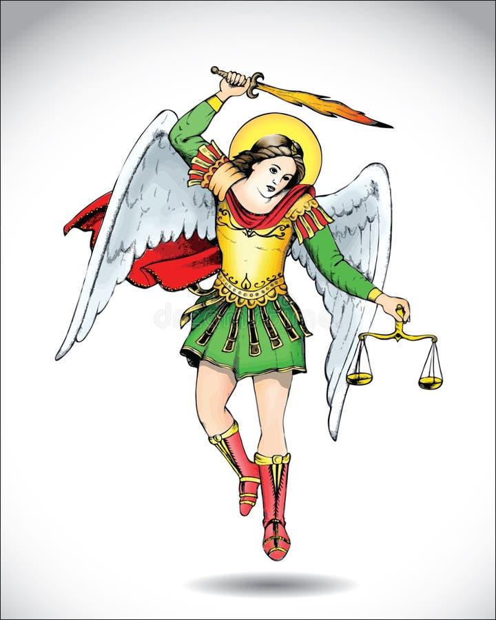 Michael o Archangel ilustração do vetor