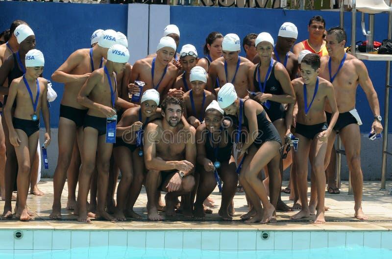 Michael Phelps fotografia stock libera da diritti