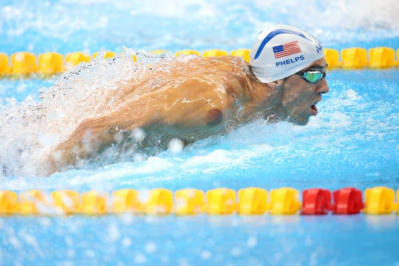 Michael Phelps ai Olympics a Rio, Brasile fotografia stock libera da diritti