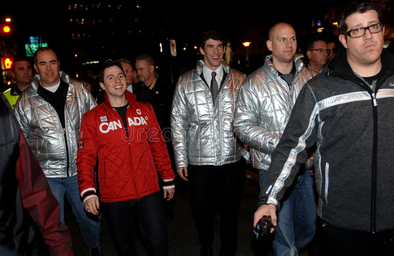 Download Michael Phelps And Alexandre Bilodeau Editorial Stock Photo - Image: 13082538