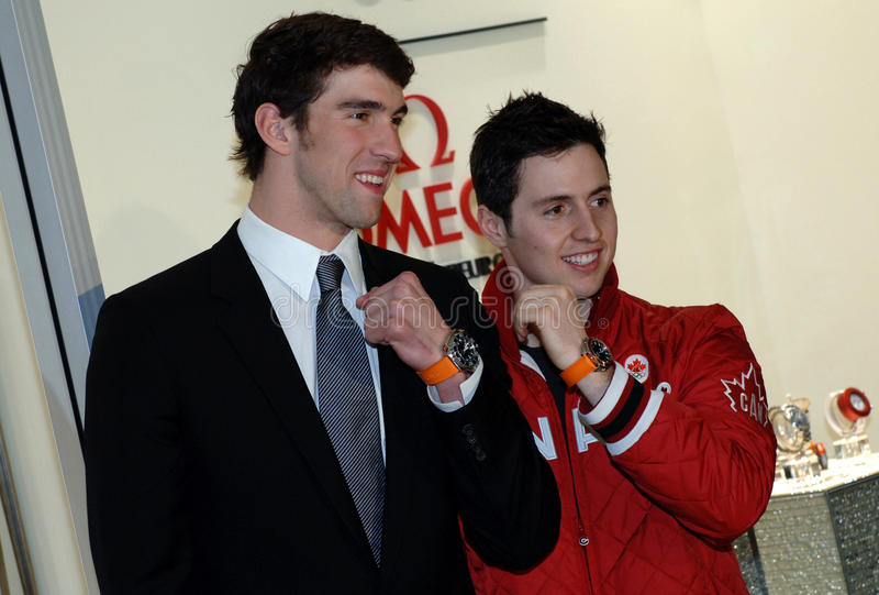 Download Michael Phelps And Alexandre Bilodeau Editorial Stock Photo - Image of british, celebrity: 13082613