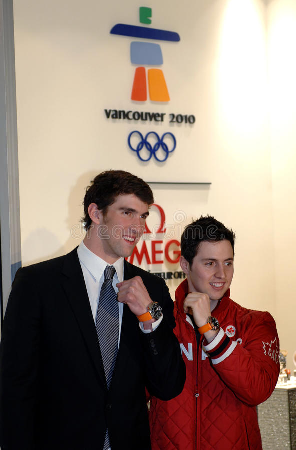 Michael Phelps and Alexandre Bilodeau