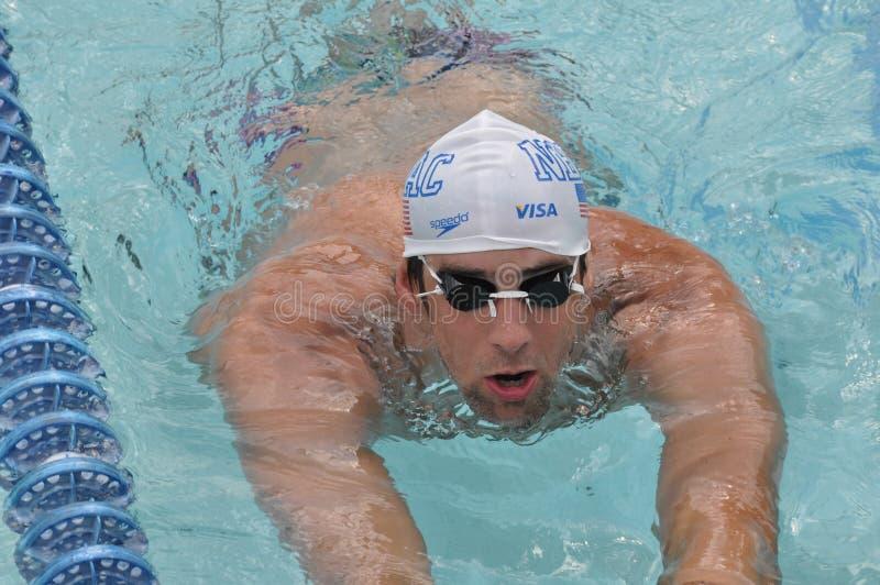 Michael Phelps, Parigi 2010 fotografie stock libere da diritti