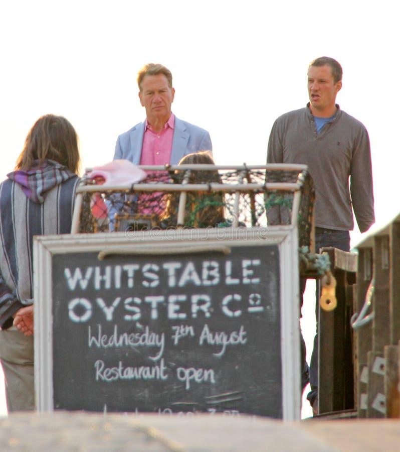 Michael Portillo visita whitstable immagine stock