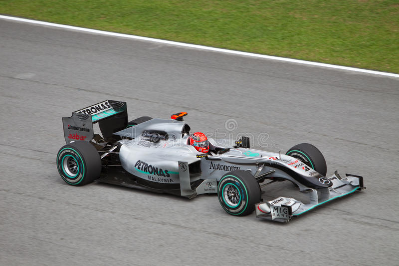 Michael Schumacher am Malaysian F1 lizenzfreie stockfotografie