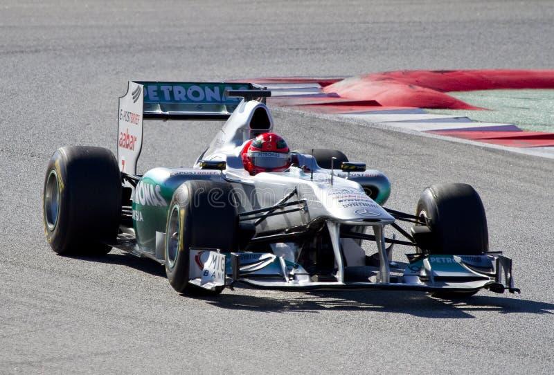 Michael Schumacher (Mercedes) image libre de droits