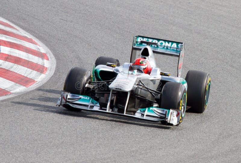 Michael Schumacher (Mercedes) stockbild