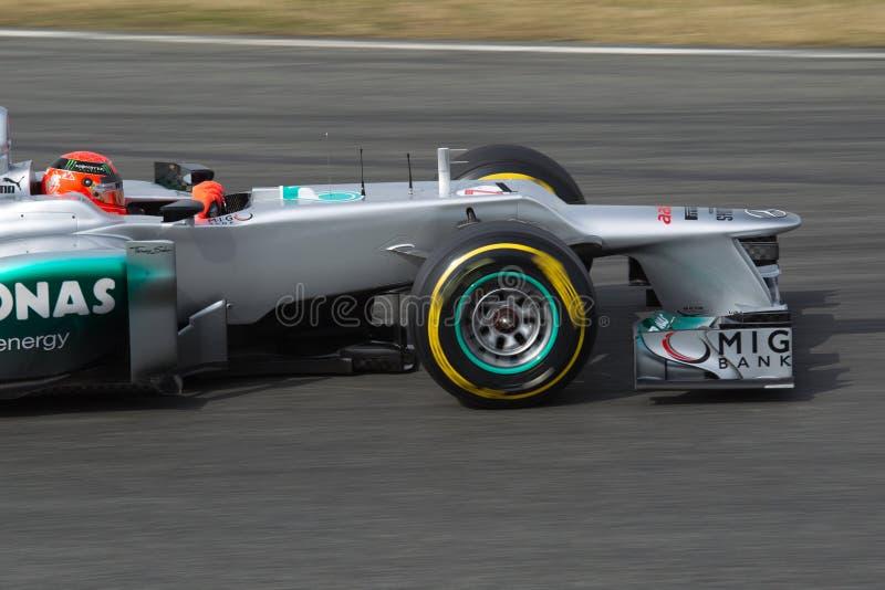 Michael Schumacher - Mercedes lizenzfreie stockfotografie
