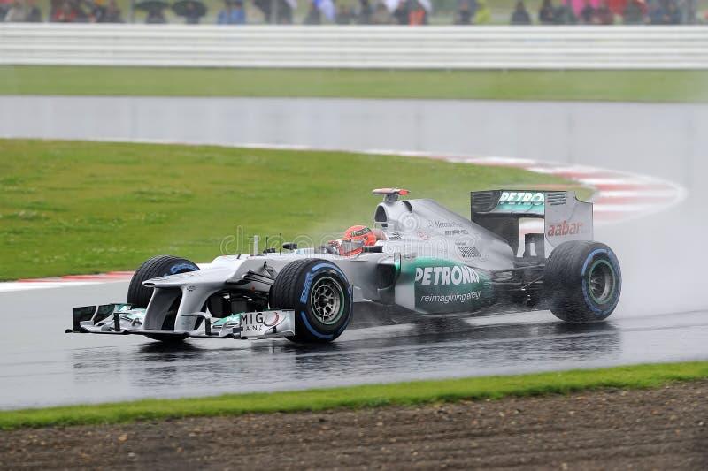 Michael schumacher, mercedes F1. stock photography