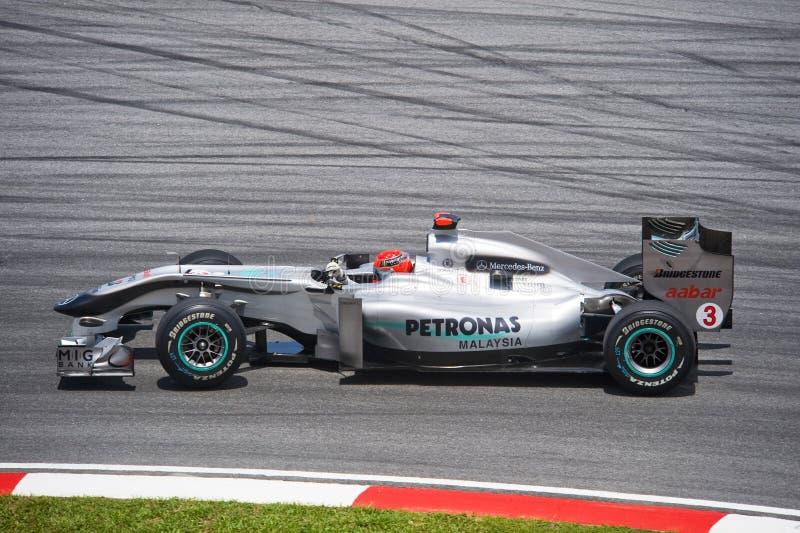 Michael Schumacher Petronas Mercedes des GP-Teams stockfotos