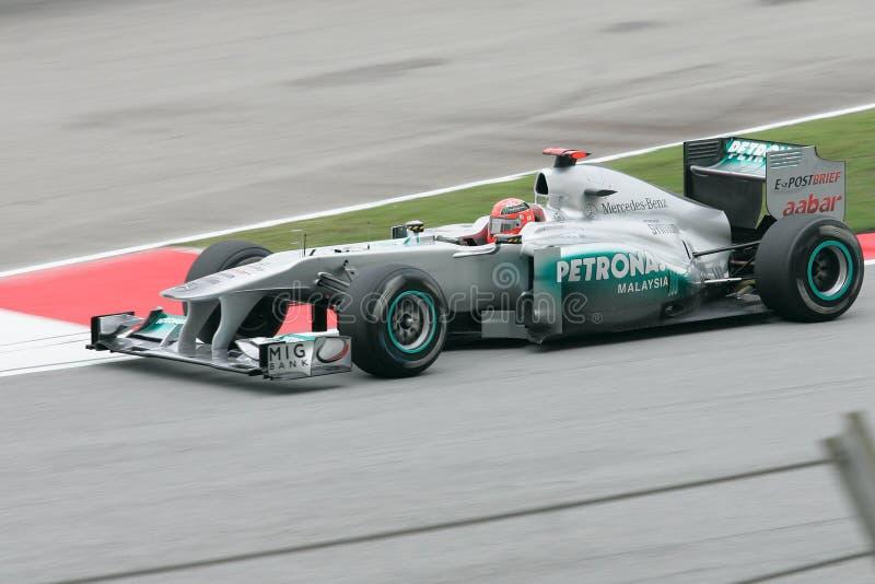 Michael Schumacher von Mercedes GP Petronas F1 lizenzfreies stockfoto