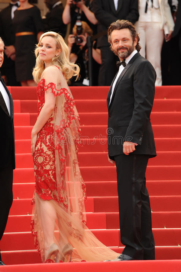 Michael Sheen. Rachel McAdams & Michael Sheen at the gala premiere for their movie 'Midnight in Paris' the opening film at the 64th Festival de Cannes. May 11 stock photos