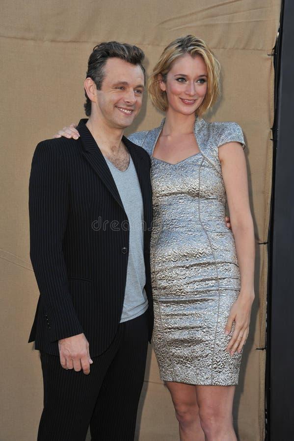 Michael Sheen & Caitlin FitzGerald stock photo